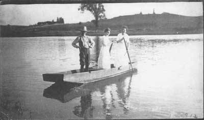 Boating on the Saugeen River, 1912