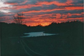 Sunset, overlooking the Saugeen River