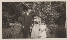 Marriage of Howard Webster and Reta Stanton June 20, 1925, flower girl Annetta Wallace