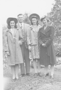 Audrey, Howard, Muriel, and Reta (circa 1945)