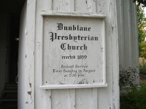 Dunblane Presbyterian Church sign