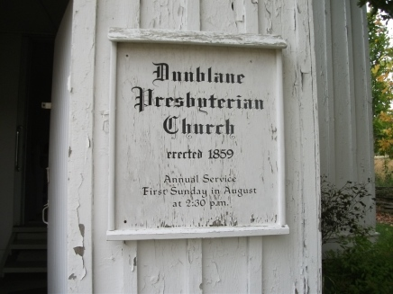 Dunblane Presbyterian Church sign